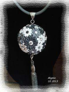 fleurs.... Pendant Necklace, Jewelry, Long Necklaces, Fimo, Flowers, Jewlery, Jewels, Jewerly, Jewelery