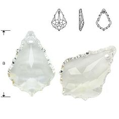 6091 Flat Baroque 28mm Crystal  Dimensions: 28,0 mm Colour: Crystal 1 package = 1 piece