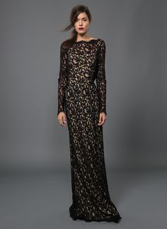 Black Wedding Dress with Sleeves
