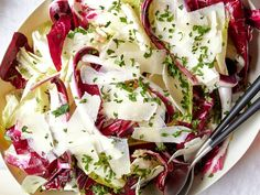 61 Thanksgiving Salad Recipes That (Almost) Rival the Turkey Thanksgiving Salad, Healthy Thanksgiving Recipes, Thanksgiving Sides, Holiday Recipes, Chicory Salad, Leftover Turkey Recipes, Caesar Salad, Roasted Sweet Potatoes, Sans Gluten
