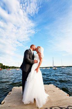 Beautiful Lake Calhoun in the background... Photo by Randi #weddings #Minnesota http://www.bellagala.com/wedding-photography/index.html