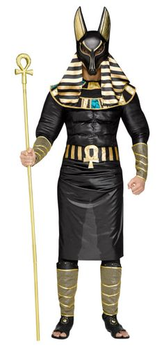 Guide souls through the threshold to the underworld in this Anubis Plus Size Men's Costume. This costume features Anubis adorned in black and gold Egyptian garb. Pharoah Costume, Anubis Costume, Adult Costumes, Halloween Costumes, Adult Halloween, Scary Costumes, Halloween 2019, Funny Halloween, Halloween Decorations