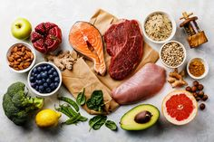 Balanced diet Organic Healthy food Clean eating selection Including Certain Protein Prevents Cancer stock photo Healthy Dinner Recipes, Real Food Recipes, Diet Recipes, Gm Diet, Paleo Diet, Pcos Diet, Nutrition Diet, Diet Snacks, Healthy Snacks