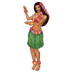 Luau Party Jointed Hula Girl (12ct)