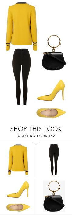 Shine Bright with Touch of Yellow Going Out, Topshop, Bright, Touch, Yellow, Polyvore, Fashion, Moda, Fashion Styles
