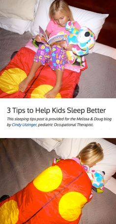 3 Tips to Help Kids Sleep Better - Tips from a Pediatric Occupational Therapist *Great suggestions for parents