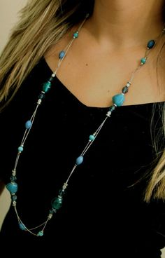 remindes me of the ocean!  Great to wear in the winter to brighten your day.  www.mytradesofhope.com/rainybenedict