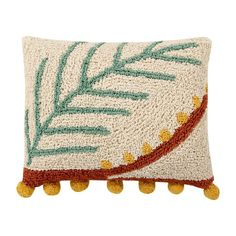 Lorena Canals Palm cushion was handmade in India in cotton, with soft filling in polyester and non toxic dyes. Fresh design that takes us Lorena Canals Rugs, Washable Rugs, Eco Friendly Fashion, Cozy Room, Plant Design, Punch Needle, Rectangle Shape, Rug Making, Wool Rug