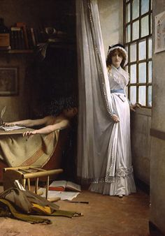 'Charlotte Corday' Painted by Paul Jacques Aimé Baudry (1860). Corday's decision to kill Jeam-Paul Marat was stimulated not only by her revulsion at the September Massacres, for which she held Marat responsible, but by her fear of an all-out civil war. She believed that Marat was threatening the Republic (through his radical, writings), and that his death would end violence throughout the nation. She also believed that King Louis XVI should not have been executed