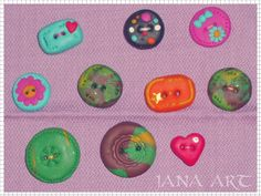 Fimo Buttons for scrapbooking.