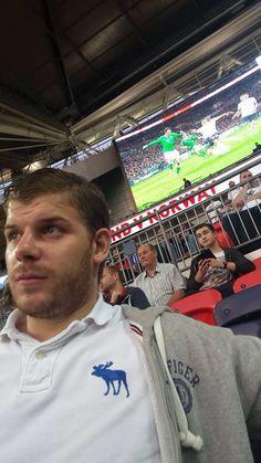 Watching England at Wembley!