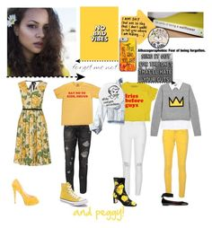 """""""and peggy!"""" by schuylerr ❤ liked on Polyvore featuring Marc Jacobs, River Island, Paolo Pecora, Christian Louboutin, M Missoni, Alice + Olivia, Hollister Co., Tabitha Simmons, Dolce&Gabbana and Converse"""