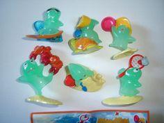 Kinder Surprise Set Beach Sports Jellyfish 2009 Figures Toys Collectibles | eBay