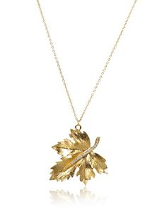 Shameless Jewelry Golden Leaf Necklace