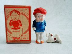 Mid Century Matchbox Doll Boy Doll with Dog