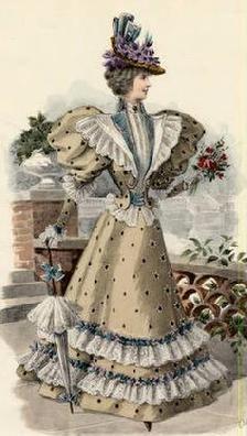 The Barrington House: 1896 fashion plate
