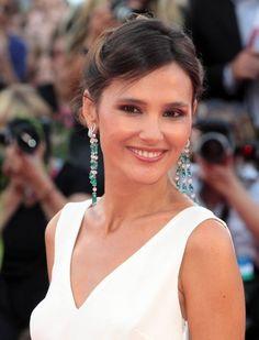 Virginie Ledoyen in stunning diamond and emerald earrings!!!