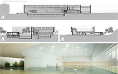 a f a s i a: Souto Moura Arquitectos #zwembad render interieur doorsnede