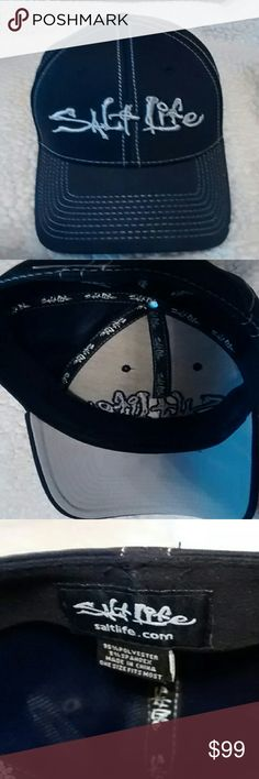 Gently loved Man's Salt Life Hat...coming soon Black with gray details Salt Life Accessories Hats