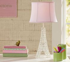 Glowing Crystal Eiffel Tower Lamp #pbkids.  We chose her name in Paris.  Want to incorporate this as a reminder:-)