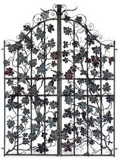 So Flowery! - Wrought Iron Garden Gates