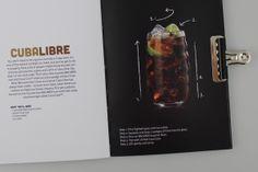 Una Fiesta Bacardi Ir - Cocktail Recipe Book by Kyle Abraham, via Behance