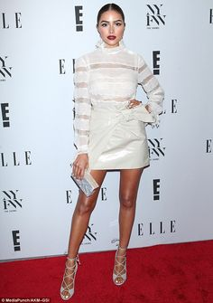 Fancy: Olivia Culpo sizzled on the red carpet during New York Fashion Week on Wednesday