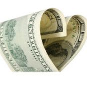 "Nothing says ""I LOVE YOU!"" like cash!     ...this page has thrifty ideas for Valentine's Day."