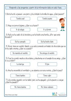 Spanish Lessons For Kids, Spanish Class, Spanish Worksheets, Worksheets For Kids, Reading Passages, Kindergarten Reading, Spanish Language, First Grade, Infographic
