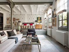 Elegant Homes by Designer Isabel López-Quesada Photos | Architectural Digest Bedroom with sunken living room