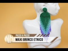 Maxi Brinco Etnico - passo a passo - YouTube Beaded Rings, Beaded Jewelry, Beaded Necklace, Seed Bead Earrings, Diy Earrings, Bead Crochet, Beaded Flowers, Beading Patterns, Diy Fashion