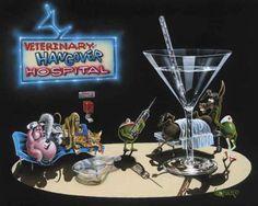"Michael Godard ""BlackJack and Spritzer"" by Limited SN Series 250 Godard Art, Olive Uses, Duck Art, Photorealism, Boy Art, Artist At Work, Art World, Great Artists, Martini"