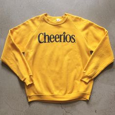"""Vintage Cheerios Sweatshirt $32+$16(shipping) domestic. Size XL (27""""x23""""). Contact the shop at 415-796-2398 to purchase by phone or PayPal afterlifeboutique@gmail and reference item in post."""
