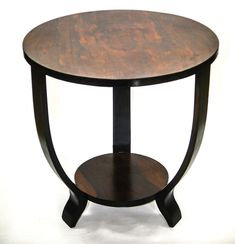 FRENCH ART DECO SIDE TABLE Maurice Dufrene Style Rosewood top #ArtDeco
