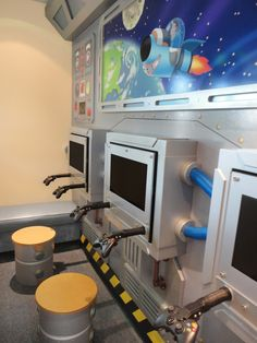 Space themed gaming station for a dental office by Imagination Dental Solutions