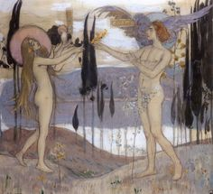 Mikhail Nesterov - Adam and Eve 1898