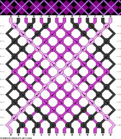 Argyle friendship bracelet pattern