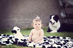 baby and her border collie