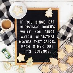 Well let's not argue with science. 😉 What are some of your holiday faves, like cookies and Christmas movies? Merry Little Christmas, Christmas Love, All Things Christmas, Winter Christmas, Christmas Cookies, Xmas, Christmas Crafts, Christmas Design, Christmas Themes