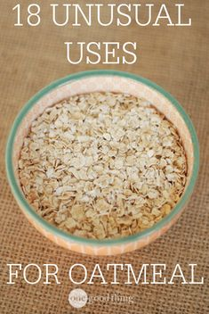 18 Unusual Uses for Oatmeal - One Good Thing by Jillee Whole 30 Vegetarian, Vegetarian Recipes, Healthy Recipes, Cooking Tips, Cooking Recipes, How To Cook Barley, Those Recipe, Recipe Collection, Fun To Be One