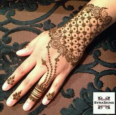Henna Eid Mehndi Designs, Henna Designs Easy, Beautiful Henna Designs, Mehndi Patterns, Latest Mehndi Designs, Mehndi Images, Mehandi Henna, Jagua Henna, Tattoo Henna