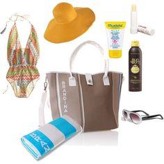 BRANDINA Beach Essentials, created by brandina-charleston on Polyvore