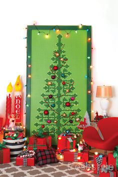 Cross Stitch Pegboard Christmas Tree: Part 2 - Fresh Style Magazine