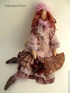 Бохо.Ноябрь.Отцвели уж давно хризантемы в саду... - бледно-розовый,кукла ручной работы