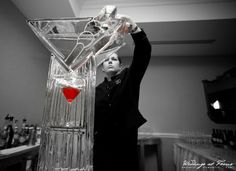 Martini Luge Ice Sculpture  Photo Courtesy of Focus Photography