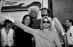 RuPaul, Dave Grohl, Kurt Cobain, Krist Novoselic, MTV Video Music Awards, Universal City, CA, US, 09/02/93
