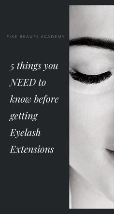 5 things you NEED to know before getting Eyelash Extensions Ever had a conversation with your girlfriends about Lash Extensions? We'll bet most of them had a great experience, but we'll also bet th… Eyelash Extensions, Need To Know, Eyelashes, Beauty Hacks, Blog, Good Things, How To Make, Style, Lashes