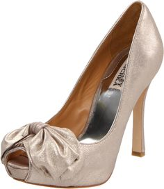 Badgley Misgchka Wilda peep-toe in rose gold. This might be it...