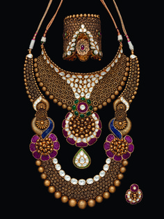 Ian Pereira via Production Paradise Jewelry Design Drawing, Gold Jewellery Design, Gold Jewelry, Antique Jewelry, Jewelry Sets, Jewelery, Gold Necklace, Jewellery Sketches, Jewelry Photography