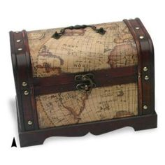 Cover a chest with old maps
